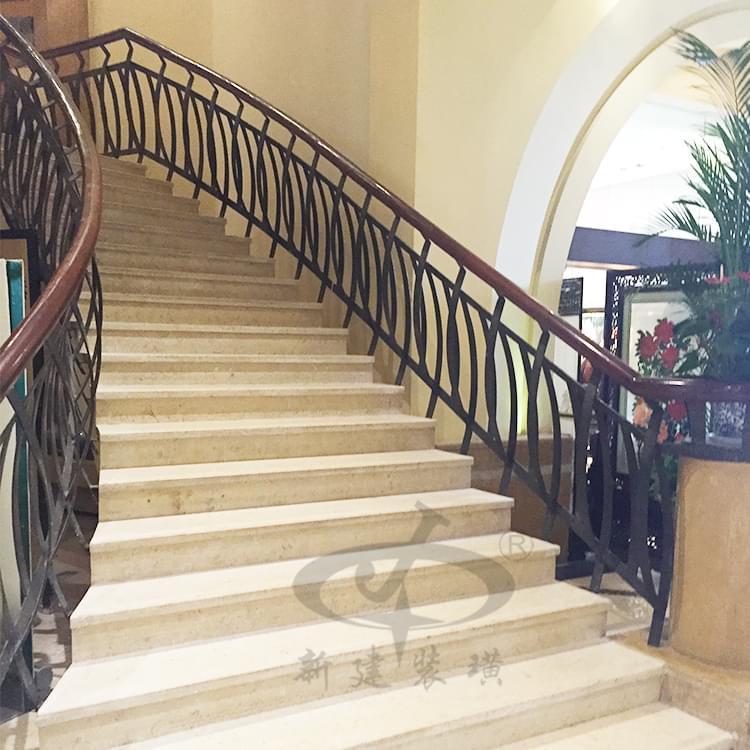中式韵味铁艺楼梯扶手