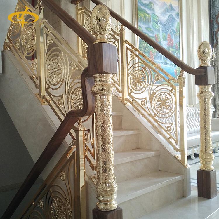 绍兴别墅钛金楼梯扶手